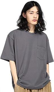 シャツ メンズ 半袖 春夏服 大きいサイズ Tシャツ 無地 オーバーサイズ クルーネック ポケット付き 2020新品 肉厚生地 綿100%