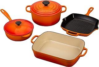 Le Creuset Signature 6-Piece Cast Iron Cookware Set, Flame