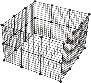 24 Panels Pet Rabbit Bunny Playpen Small Animal Cage Indoor Portable Yard Fence Guinea Pigs, Puppy Kennel Crate Fence Tent