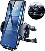 DesertWest Car Phone Mount, Air Vent Phone Holder for Car, Easy One Touch Cell Phone Car Mount Compatible with iPhone 11 Max Pro X XS Max XR 8 7 6+, Samsung Galaxy S10 S10+ S10e S9 S8 S7 and More