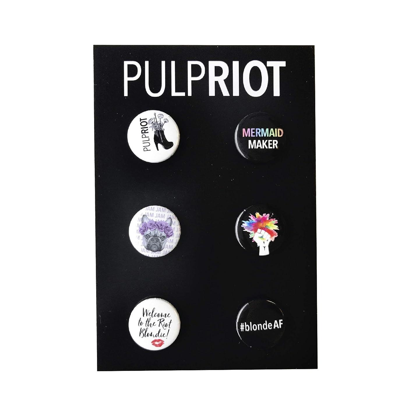 Pulp Riot Set of 6 Buttons