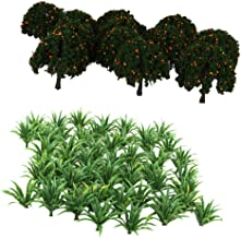 HOMYL 70X Mini Green Tree&Grass Model 1/100-200 Sacle Layout for Warhammer Scenery