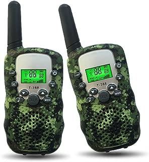 Joyfun Walkie Talkies for Kids T-388 Long Distance 2 Way with Flashlight Outdoor Camping & Hiking Gear Christmas Birthday Gifts - 1 Pair