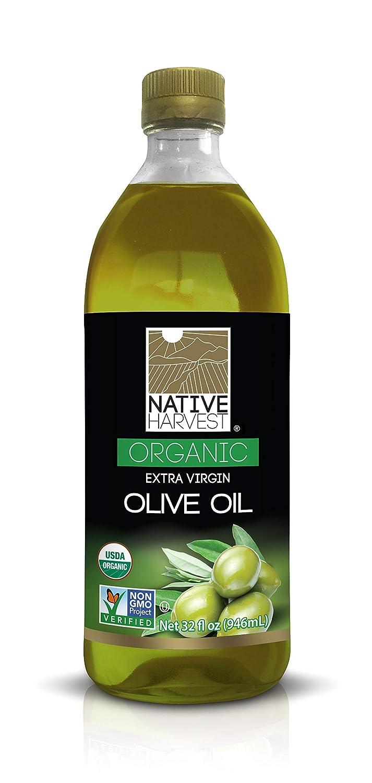 Native Harvest Organic Non-GMO Extra Virgin Olive Oil, 1 Litre (