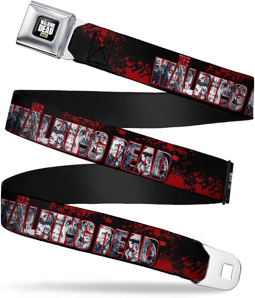 Buckle-Down Boys' The Walking Dead/Splatter/Zombies Seatbelt Belt