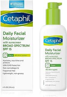 Cetaphil Daily Facial Moisturizer, SPF 15, Fragrance Free, 4 Oz