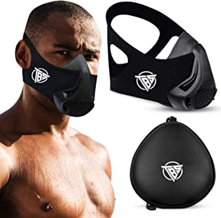 TBS Workout Masks for Men, High Altitude Elevation Training Fitness Mask with 48 Breathing Resistance Levels and Carry Cas...