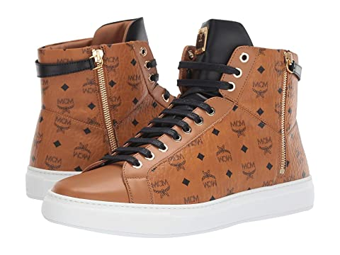 MCM High Top Lace-Up Sneaker