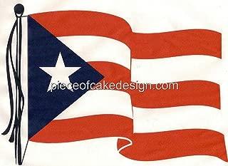 1/8 Sheet ~ Puerto Rican Waving Flag Birthday ~ Edible Cake/Cupcake Topper!!!