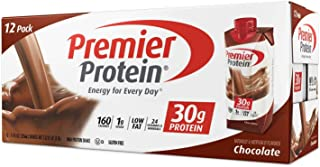 Premier Protein 30g Protein Shakes, Chocolate, 11 Fluid Ounces, 12 Count