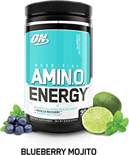 Optimum Nutrition Amino Energy with Green Tea and Green Coffee Extract, Flavor: Blueberry Mojito, 30 Servings, 9.5 Ounce (1 Count)