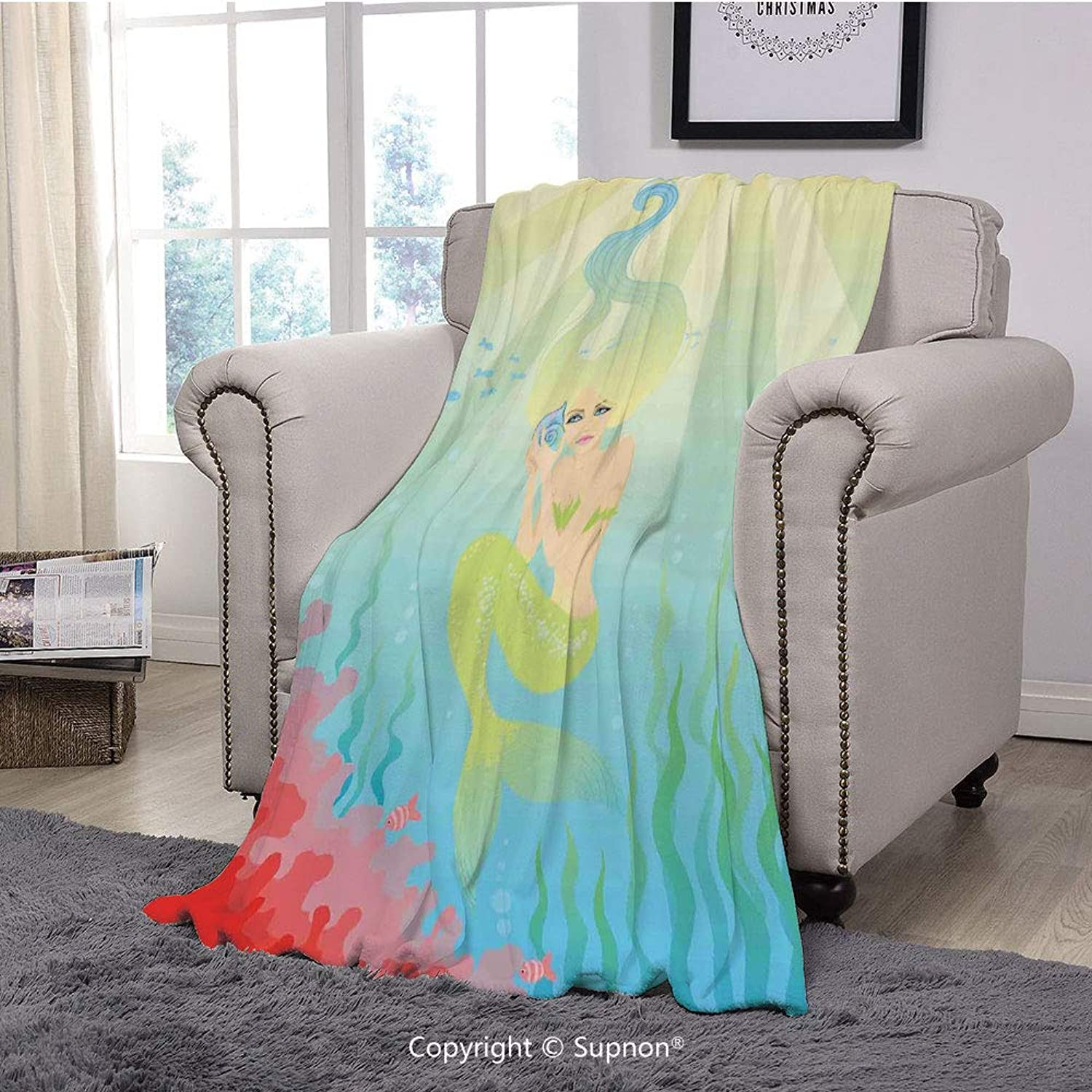 Koltose by Mash Emoji Throw Blanket Toddlers Kids Teens and Young Adults Super Soft Large Fluffy Lightweight Blue Emoticon Blanket for Boys and Girls 50in x 60in