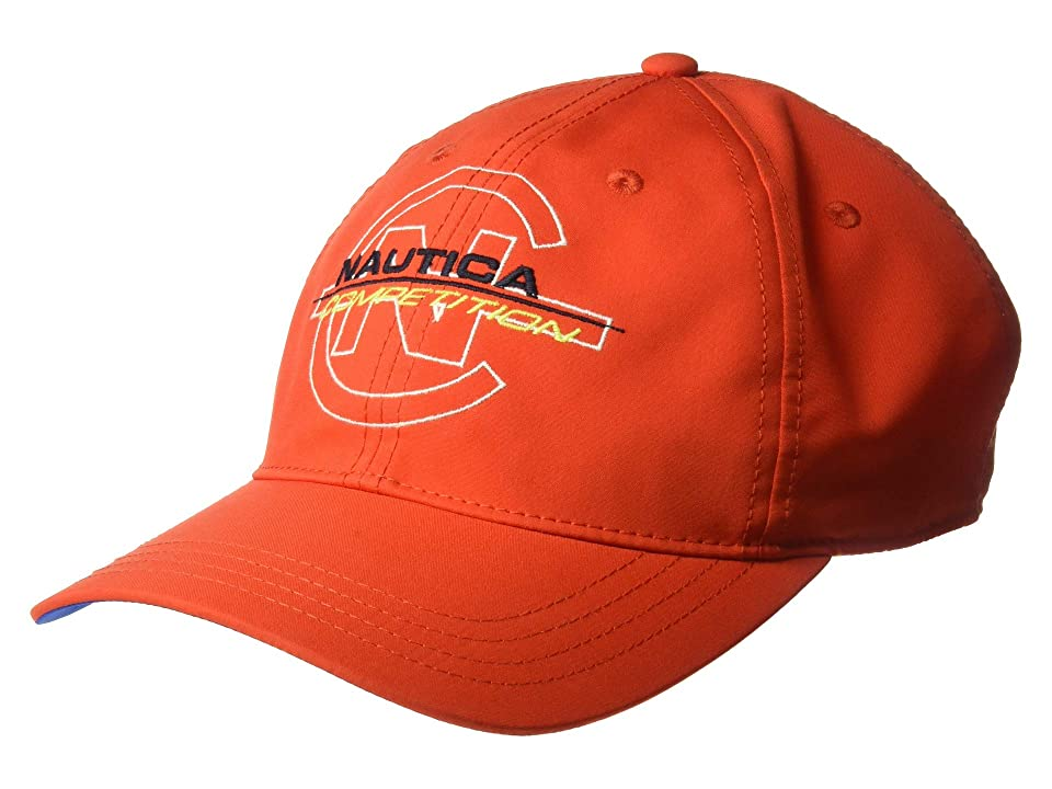 Nautica Competition Color Block Baseball Cap (Firey Red) Baseball Caps