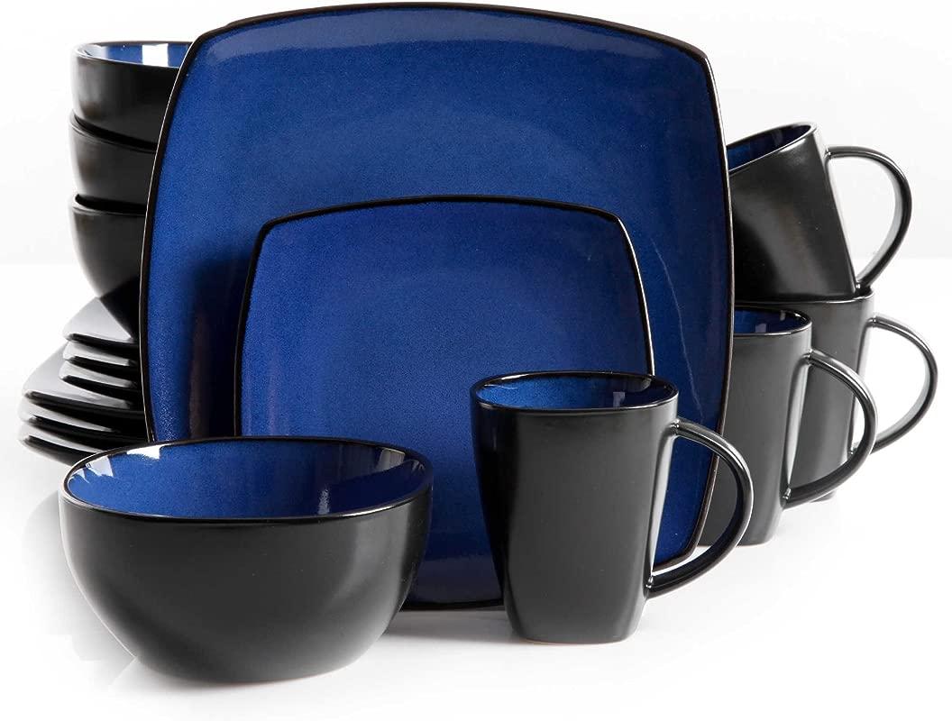 Gibson Home Amalfi 16 Piece Dinnerware Set In Blue