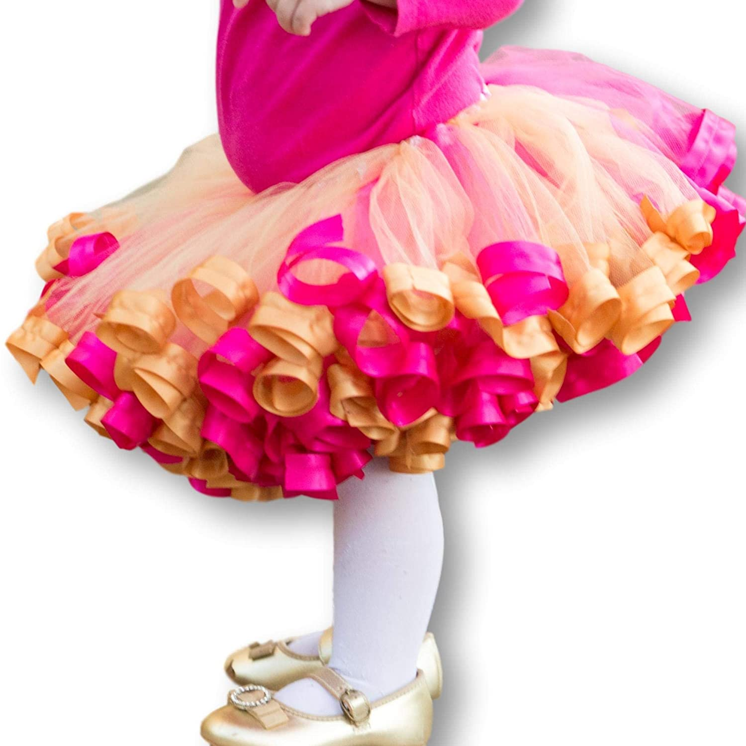 Gold Pink Tutu Colorful Tulle Party online shop Princess Popular popular Birthday N Skirt