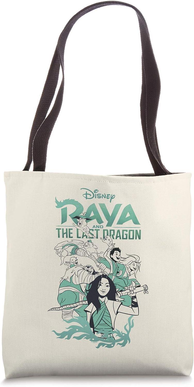 Disney Raya And The Last Dragon Group Shot Logo Tote Bag
