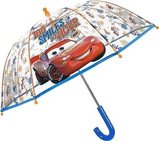 Parapluie Transparent Cars Enfant - Cloche Solide et Résistant au Vent - Parapluie Disney Pixar avec Flash McQueen et Mart...