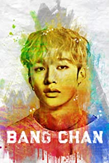 """Bang Chan: Stray Kids Member Color Splatter Art 100 Page 6 x 9"""" Blank Lined Notebook Kpop STAY Merch Journal Book"""