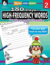 180 Days of High-Frequency Words for Second Grade - Learn to Read Second Grade Workbook - Improves Sight Words Recognition...