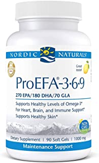 Nordic Naturals ProEFA 3-6-9, Lemon Flavor - 565 mg Omega-3-90 Soft Gels - EPA & DHA with Added GLA - Healt...