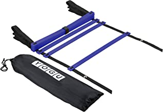 YOGU Agility Ladder Set Training Speed Ladder Footwork Equipment for Sports Soccer Football Exercise Fitness Workouts Drills 8 or 12 Adjustable Rungs Ladder with Carry Bag …
