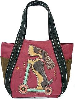 CHALA Tragetasche mit Reißverschluss, Segeltuch-Handtasche, Reißverschluss oben, Tiermuster