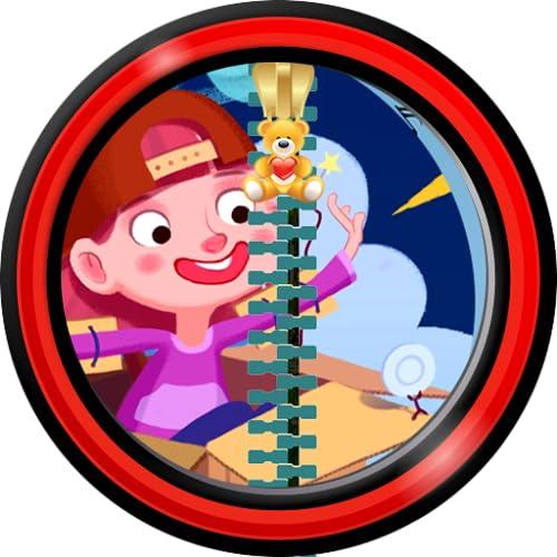 Zipper Lock Screen For Kids