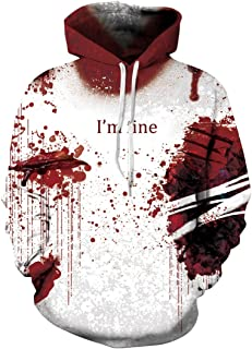 Lanruosi Unisex Couples Hooded Sweatshirt I'm Fine Letter Printed Hoodie No.2 S/M