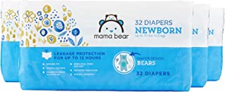 Amazon Brand - Mama Bear Diapers, Newborn, 128 Count, Bears Print (4 packs of 32) [Packaging May Vary]