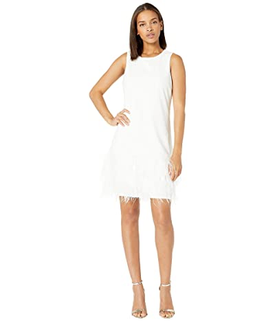 Sam Edelman Feather Hem Dress (Ivory) Women