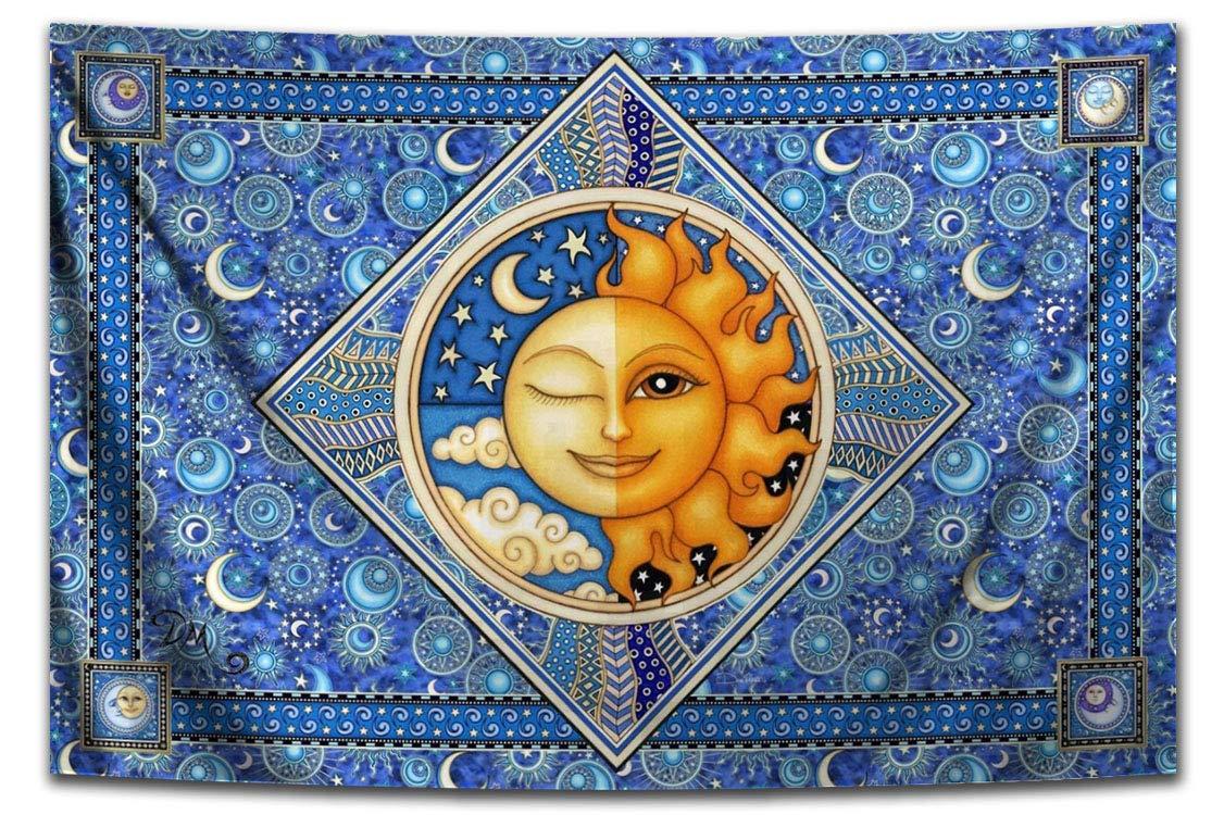 Twilight Sun Moon Milwaukee Mall Celestial gift Tapestry by Dan Morris