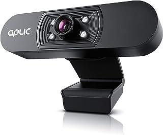 CSL - Full HD 1080p Webcam with Microphone - 2k 1920x1080P @ 25Hz - 4 Auxiliary Lights/Scene Light - 5P Lens - Auto White ...