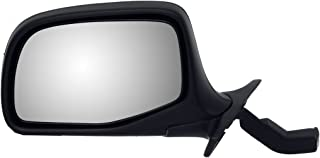 Dorman 955-227 Driver Side Manual Door Mirror for Select Ford Models, Black and Chrome