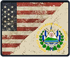 El Salvador Coat of Arms US Flag Alfombrilla para ratón Non-Slip Gaming Mouse Pad Mousepad for Working,Gaming and Other Entertainment