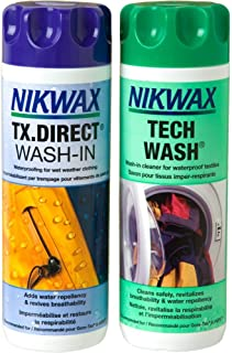 Nikwax Tx. Direct Wash In Imperméabilisant + Nikwax Tech Wash Nettoyant technique non détergent