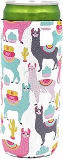 Llama Drama 12 oz Slim Can Cooler Sleeve Redbull Michelob Ultra