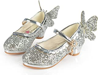 Primavera Otoño Niños Zapatos Niñas Mariposa Princesa Zapatos Damas De Honor Lentejuelas Princesa Zapatos De Tacón Bajo