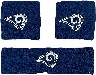 NFL Los Angeles Rams Wristband Headband 3-Piece Set with Team Logo