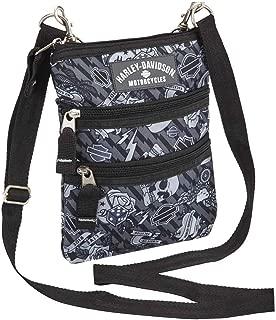 Harley Davidson (cross X-body Slings Grey Tattoo Backpack, One Size
