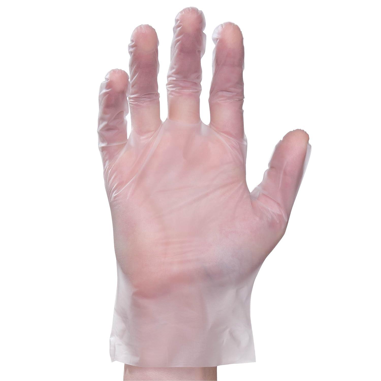 Elara FED202 Digifit Eco Friendly Elastipolymer Hybrid Glove, Phthalate Free, PVC Free, BPA Free, Latex Free, Powder Free, Food Service, Industrial, Janitorial, Medium, Clear, Case of 1000