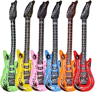 Dr.dudu Inflatable Guitar, Waterproof Assorted Colors Party Decoration (6pack)