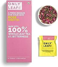 Onlyleaf Rose Green Tea, 27 Tea Bags (25 Tea Bags + 2 FREE Exotic Samples )