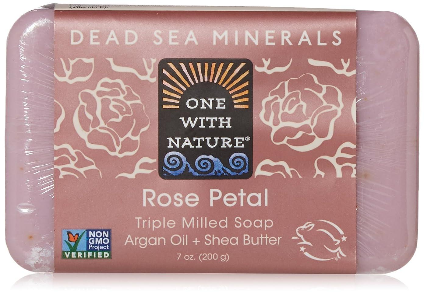 怪しい統治するOne With Nature - 死海ミネラル棒石鹸の穏やかな剥離のバラの花びら - 7ポンド [並行輸入品]