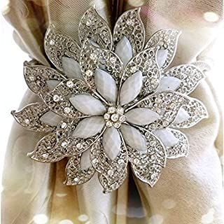 Sycle Embrasses de Rideaux magn/étiques d/écoratives en Cristal pour Chambre /à Coucher Bureau Argent/é Salon