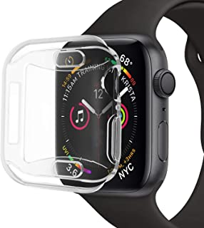 [2-Pack] Elobeth Compatible with Apple Watch Series 4 44mm Protective Case Screen V2.0 Soft Silicone Waterproof Shockproof Clear Ultra-Thin Cover (44mm)