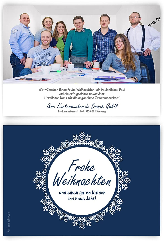 40 x Weihnachtskarten Firmen Geschäftlich Business Grußkarten Weihnachten - - - gefrorene Kugel B075XQWS57    Hochwertig  befd38
