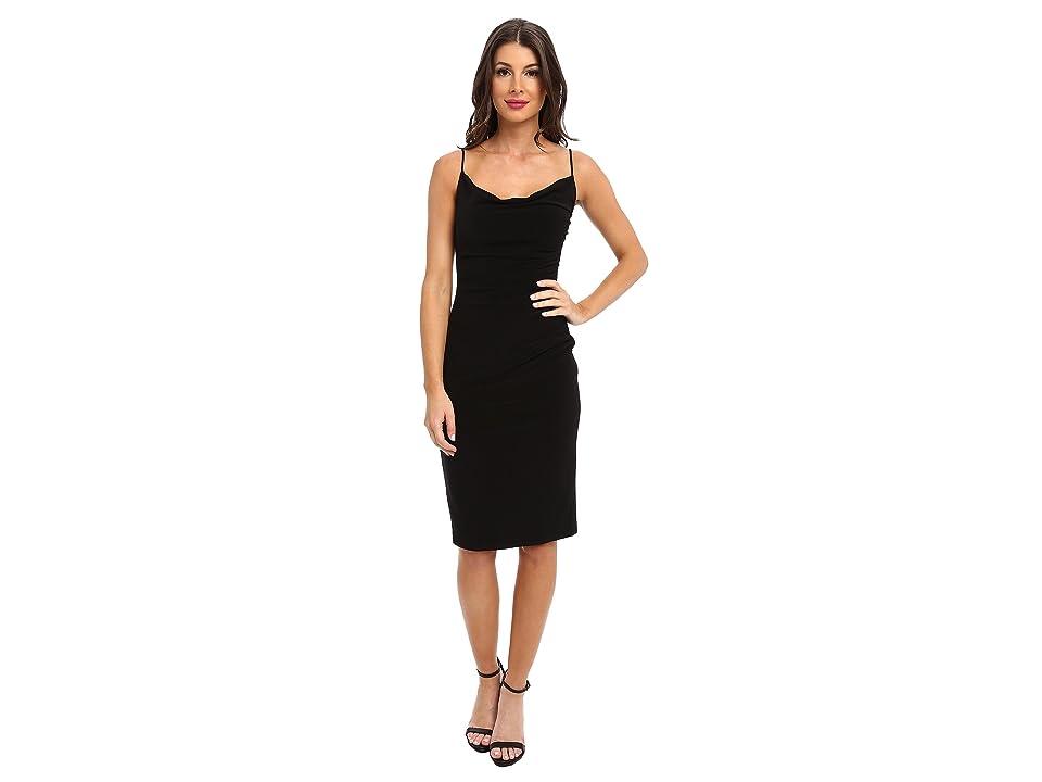 Laundry by Shelli Segal Skinny Strap Side Shirred Tank Dress (Black) Women