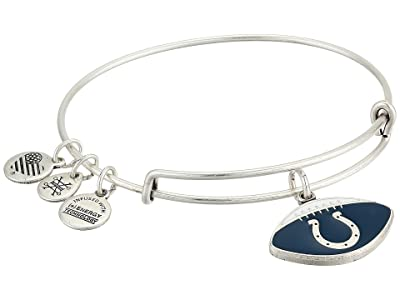 Alex and Ani Color Infusion Indianapolis Colts Football II Bangle (Rafaelian Silver) Bracelet