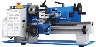 VEVOR Mini Torno de Metal 180mm x 300mm 550W, Velocidad Variable 2250RPM, Torno de Trabajo de Madera de Metal Automático con Mandril Autocentrante de 3 Mordazas
