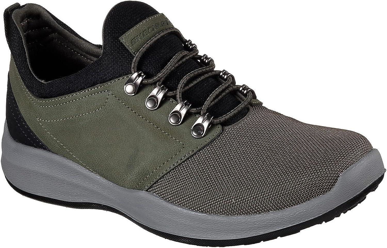 Skechers Wallen Folt Mens Slip On Sneaker Oxfords Olive 14